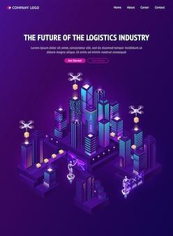 Futuro dell'industria logistica con consegna di droni