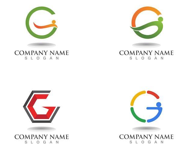 G lettere logo e simboli icone del modello