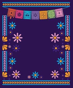Gagliardetto messicano con design del telaio.