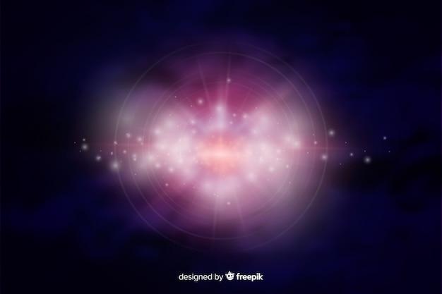 Galassia scintillante sfondo astratto