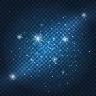 Galassia scintillante sfondo blu