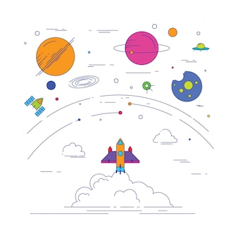 Galaxy icona illustrazione