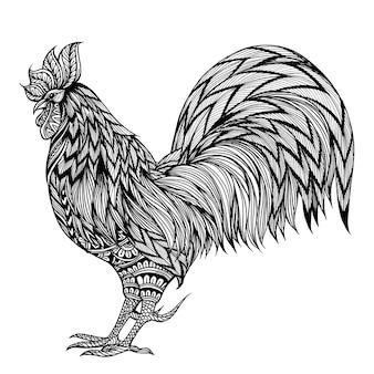 Gallo disegnato a mano
