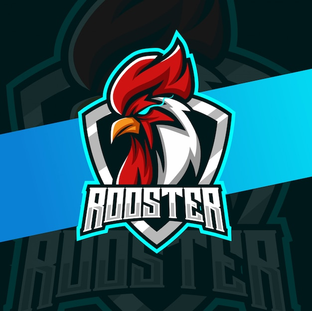 Gallo logo mascotte esport logo design