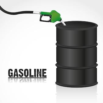 Gallone di carburante con distributore di benzina