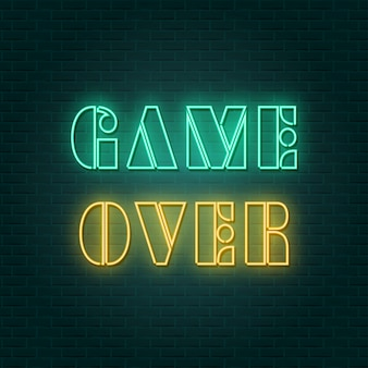 Game over neon sign