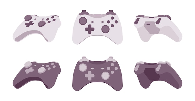 Gamepad impostato nei colori bianco e nero