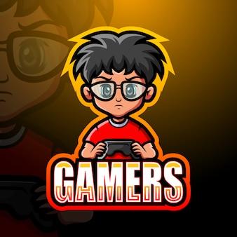 Gamer boy mascot esport