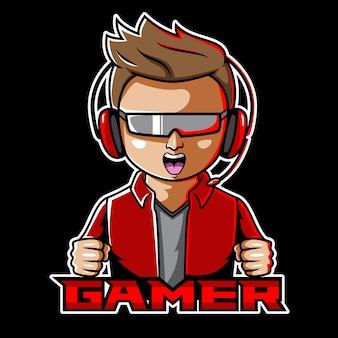 Gamer esport mascot logo design