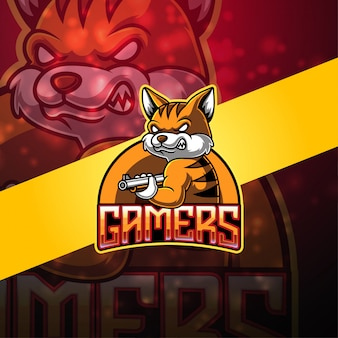 Gamers esport logo design mascotte