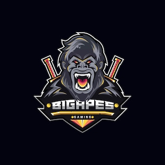 Gaming logo bisgi scimmie