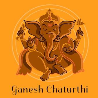 Ganesh chaturthi disegnati a mano