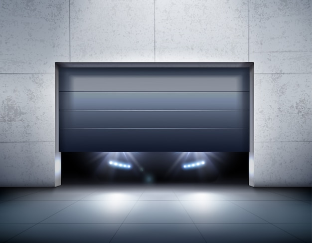 Garage e auto sfondo realistico