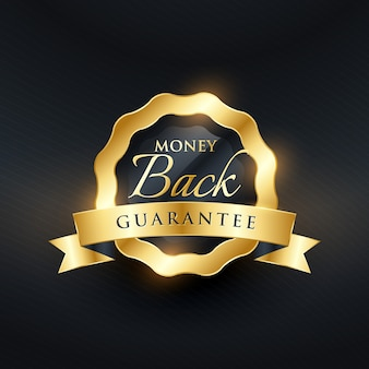 Garanzia di restituzione di denaro premium design di etichetta vettoriale
