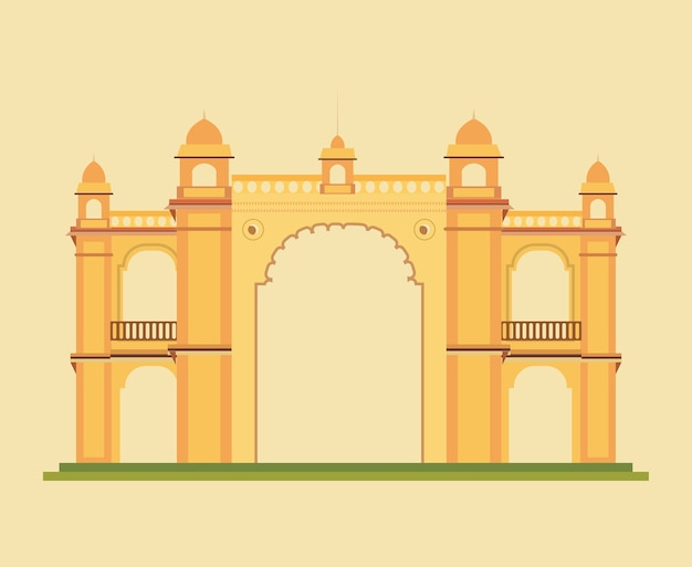 Gateway indiano dell'india del monumento