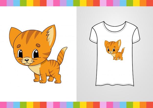 Gatto simpatico cartone animato