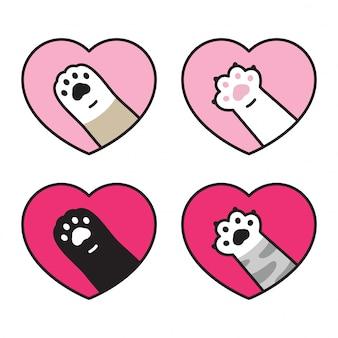 Gatto zampa gattino impronta cuore san valentino