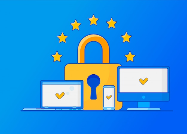 Gdpr regolamento generale sulla protezione dei dati. protezione dei dati personali.