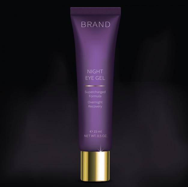 Gel cosmetico di notte per la cura della pelle degli occhi