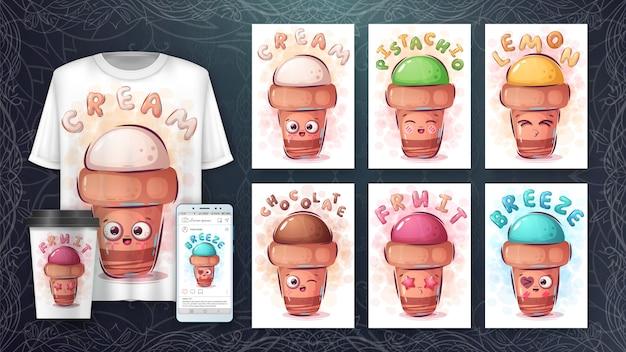 Gelato carino - poster e merchandising