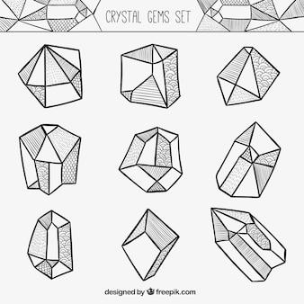 Gemme di cristallo set