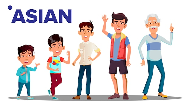 Generazione di uomini asiatici