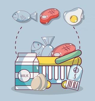 Generi alimentari e cibo sano