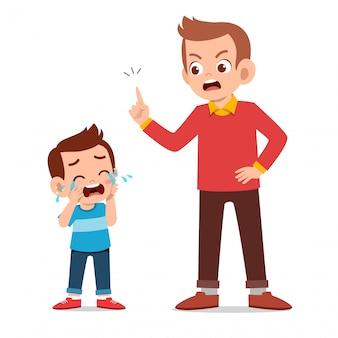 Genitore con bambino piangere
