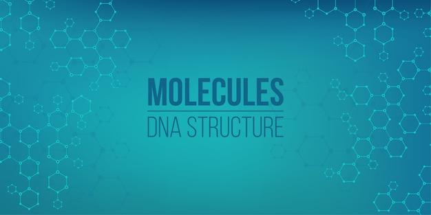 Genoma della connessione di codifica della struttura molecolare.
