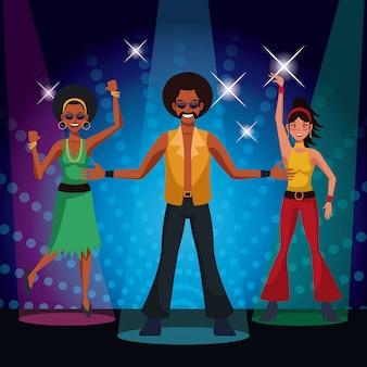 Gente che balla in discoteca degli anni '80