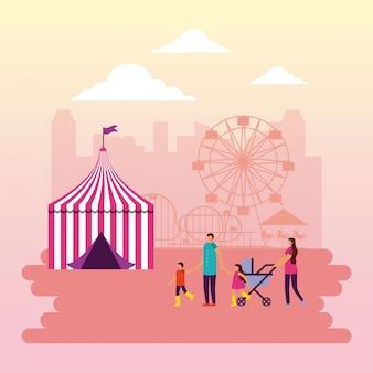 Gente del circo fiera