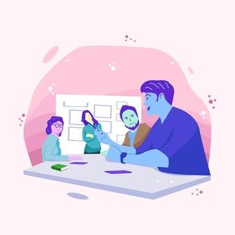 Gente di affari che incontra illustrazione