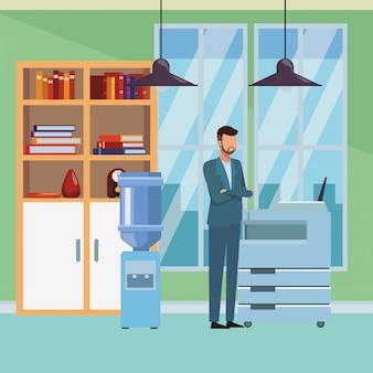 Gente di affari ed elementi dell'ufficio