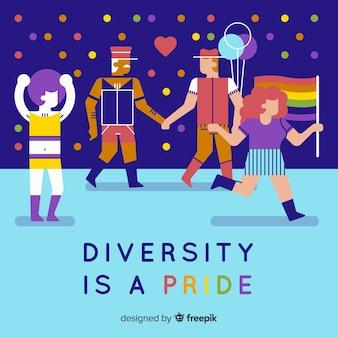 Gente orgogliosa con sessualità diversa