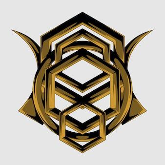 Geometria in legno santo