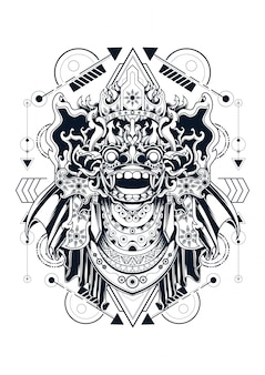 Geometria sacra balinese barong