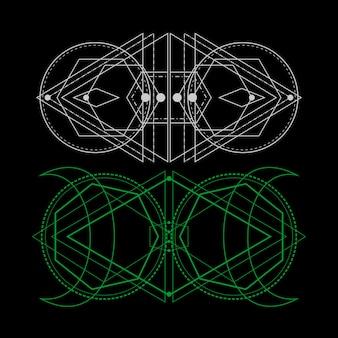 Geometria sacra dell'universo per il disegno del tatuaggio