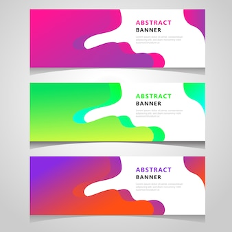 Geometric abstract banner template