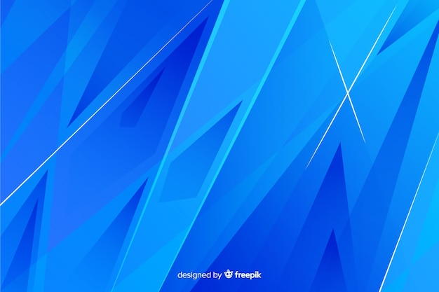 Geometrico astratto blu