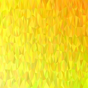 Geometrico astratto modello caotico triangolo sfondo - disegno vettoriale mosaico da triangoli gialli