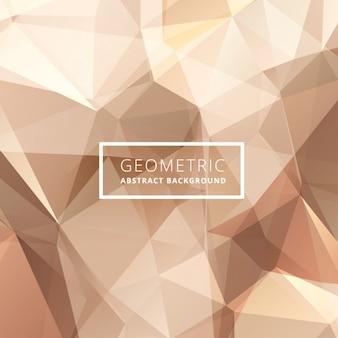 Geometrico astratto sfondo dorato