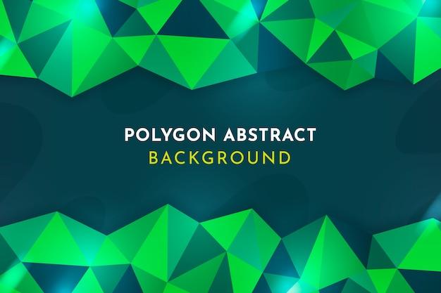 Geometrico astratto verde di sfondo