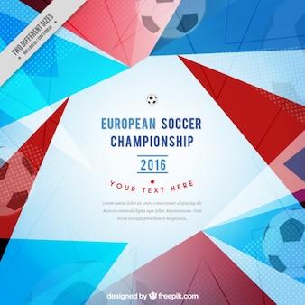 Geometrico campionato europeo di calcio sfondo
