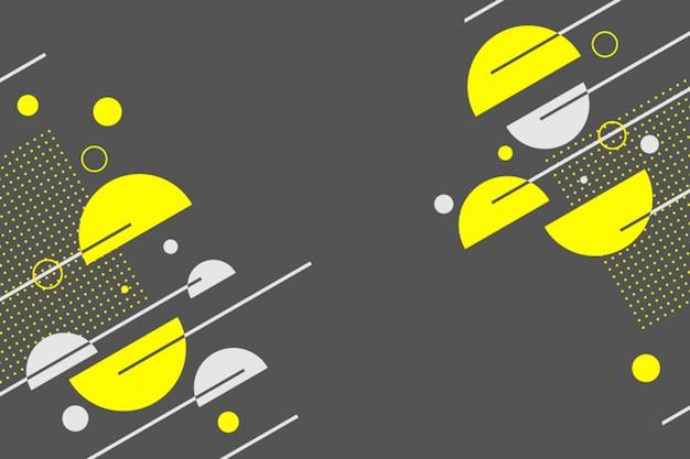 Geometrico giallastro astratto nel fondo scuro