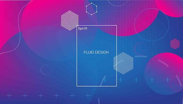 Geometrico ondulato con sfondo fluido