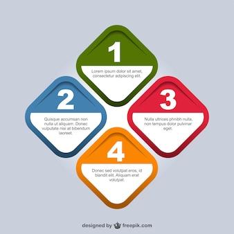 Geometrico origami infografica design semplice