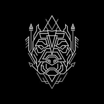 Geometry line the dog