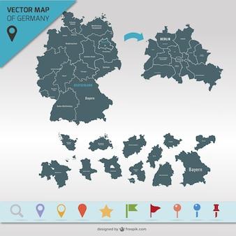 Germania mappa vettoriale
