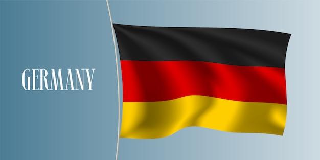 Germania sventolando bandiera