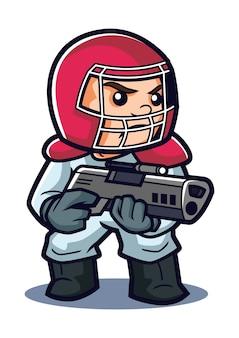 Germe terminator mascot design